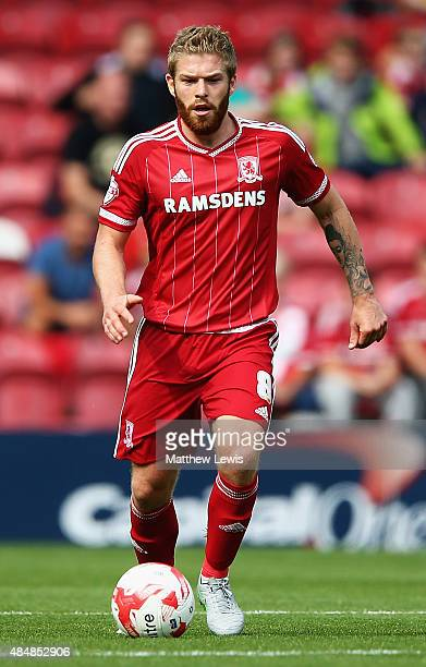 Adam Clayton of Middlesbrough in action during the Sky Bet Championship match between Middlesbrough v Bristol City at Riverside Stadium on August 22...