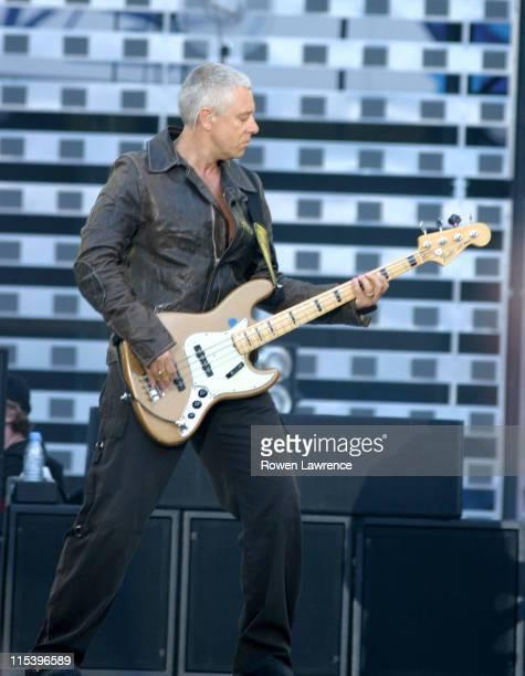 Adam Clayton of U2 during U2's 'Vertigo' Tour in Manchester June 14 2005 at Manchester Stadium in Manchester United Kingdom