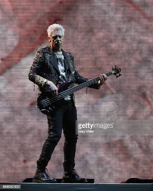 Adam Clayton of U2 performs on The Joshua Tree Tour at NRG Stadium on May 24 2017 in Houston Texas