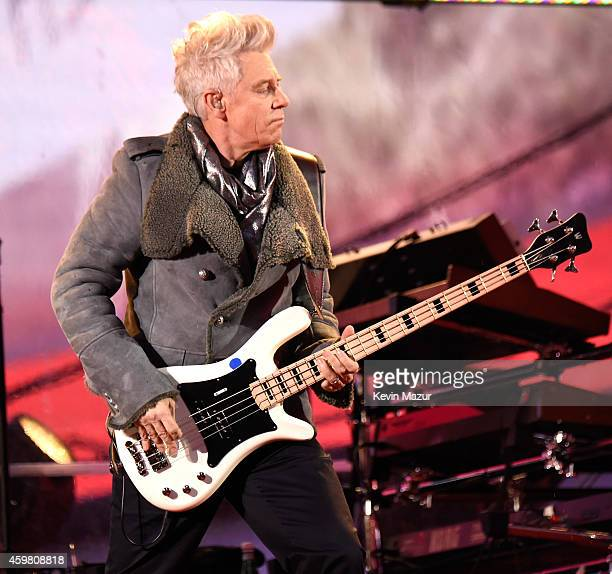 Adam Clayton of U2 performs on World AIDS Day at 'A Thank You Presented by RED on December 1 2014 in New York City Photo by Kevin Mazur/Getty Images...
