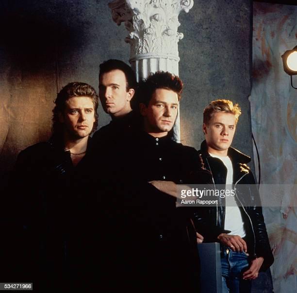 Adam Clayton The Edge Bono and Larry Mullen Jr form the rock band U2