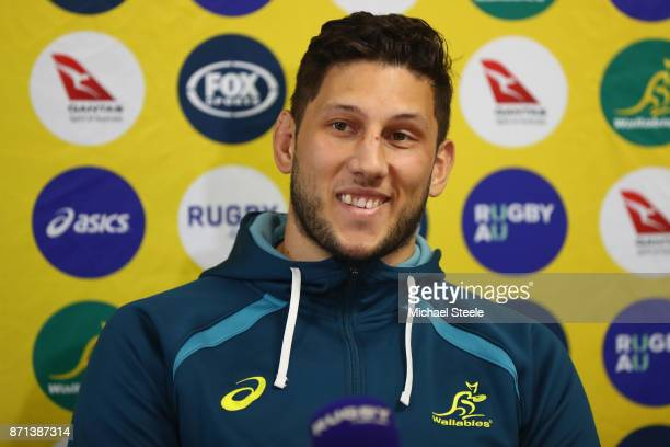 Adam Coleman during a press conference ahead of a training session at Sport Wales on November 7 2017 in Cardiff Wales