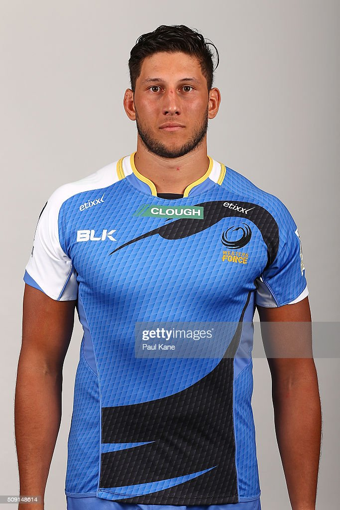 Adam Coleman poses during the Western Force 2016 Super Rugby headshots session on February 9, 2016 in Perth, Australia.