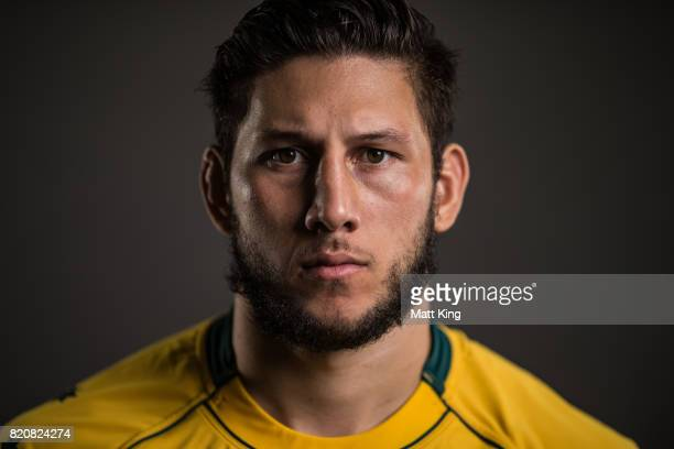 Adam Coleman poses for a headshot during the Australian Wallabies Player Camp at the AIS on April 11 2017 in Canberra Australia