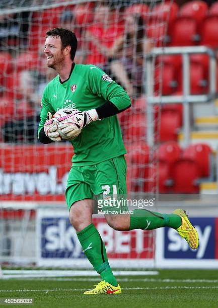 Adam Collin of Rotherham United in action during the Pre Season Friendly match between Rotherham United and Nottingham Forest at The New York Stadium...