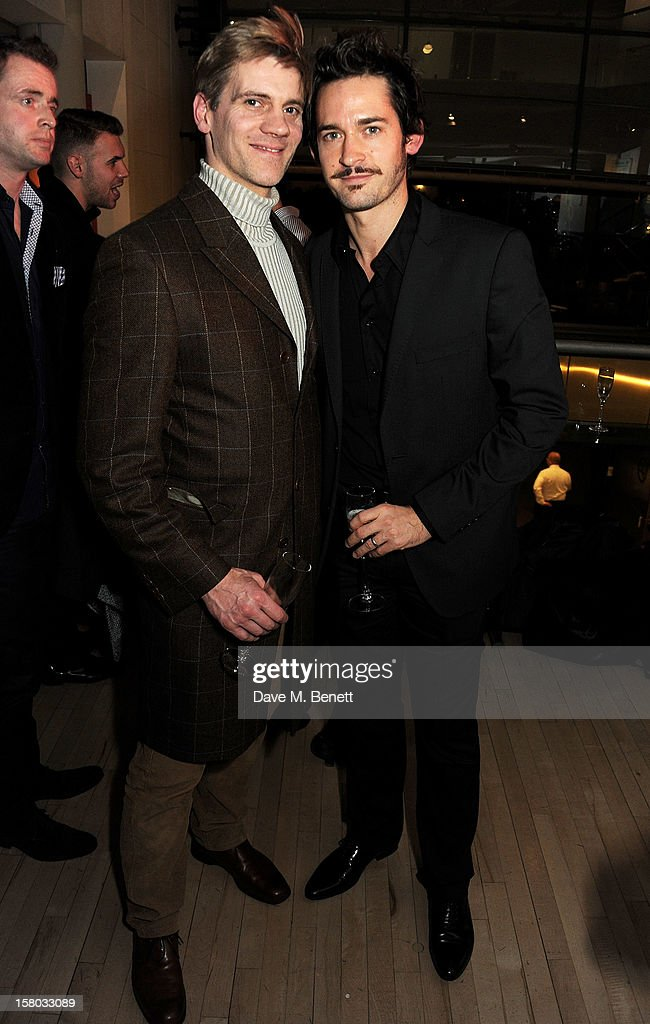 Adam Cooper (L) and Will Kemp attend an after party following the press night performance of Matthew Bourne's Sleeping Beauty at Sadler's Wells Theatre on December 9, 2012 in London, England.