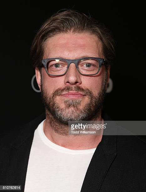 Adam Copeland attends the premiere Of Open Road's 'Triple 9' at Regal Cinemas LA Live on February 16 2016 in Los Angeles California