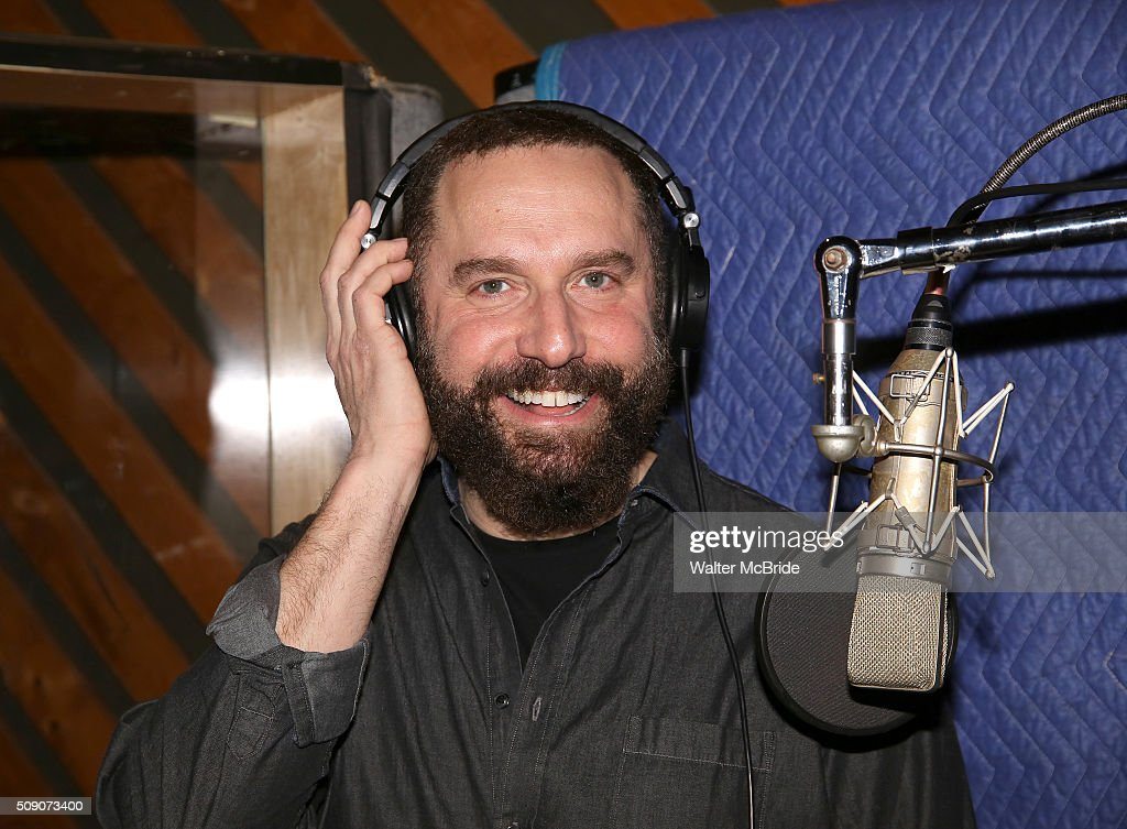 Adam Dannheidder during the Broadway Cast Recording of 'Fiddler on the Roof' at MSR Studios in Times Square on February 8, 2016 in New York City.