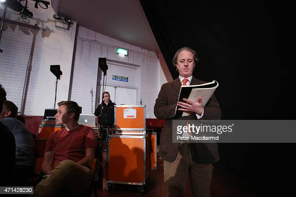 Adam Dant commissioned as the official Parliamentary Election artist sketches the audience ahead of a speech by Labour Party leader Ed Miliband on...