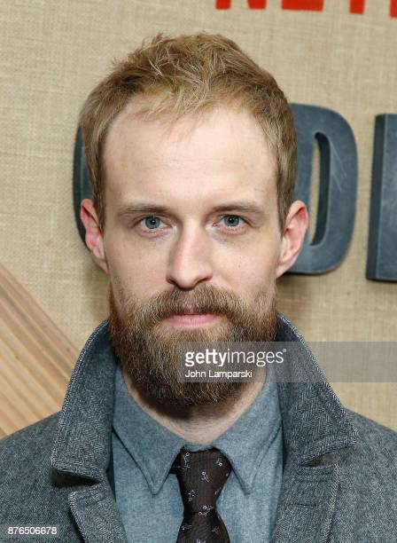 Adam David Thompson attends 'Godless' New York premiere at The Metrograph on November 19 2017 in New York City