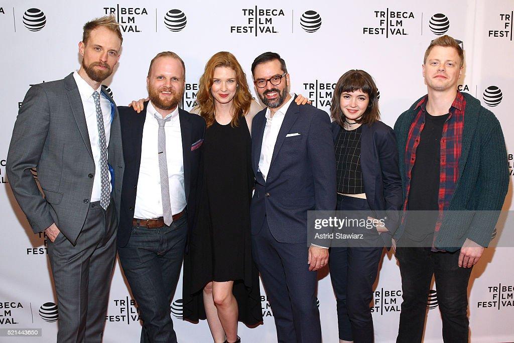 Adam David Thompson Rod Blackhurst Lucy Walters David Ebletoft Gina Piersanti and Noah Lang attend 'Here Alone' Premiere 2016 Tribeca Film Festivalat...