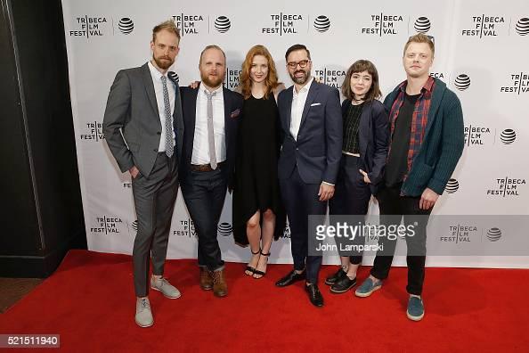 Adam David Thompson Rod Blackhurst Lucy Walters David Ebletoft Gina piersanti and Noah Lang attend 'Here Alone' Premiere during the 2016 Tribeca Film...