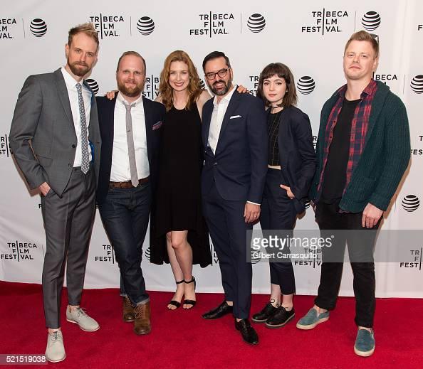 Adam David Thompson Rod Blackhurst Lucy Walters David Ebletoft Gina Piersanti and Noah Lang attend 'Here Alone' Premiere during 2016 Tribeca Film...