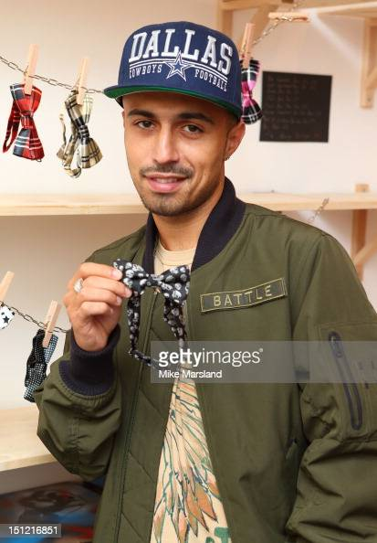 Adam Deacon attends a photocall to launch the new popup shop by Kealy from Channel 4's 'Battlefront' reality TV show on September 4 2012 in London...