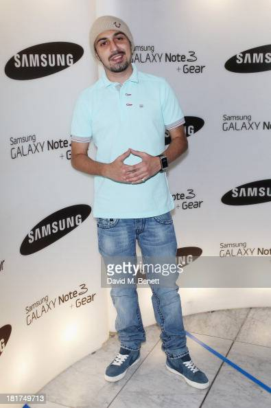 Adam Deacon attends the Samsung Galaxy Gear and Note 3 launch event at the Radio Rooftop Bar Hotel Me London on September 24 2013 in London England