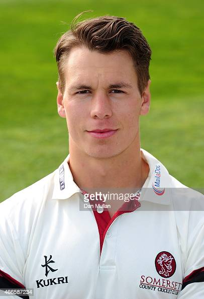 Adam Dibble of Somerset poses during the Somerset CCC Photocall at The County Ground on March 17 2015 in Taunton England