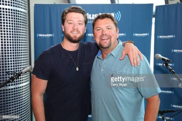 Adam Doleac and SiriusXM Host Storme Warren Visit The SiriusXM Studios In Nashville on June 21 2017 in Nashville Tennessee
