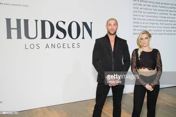 Adam Drawas and Jennifer Walker attend Hudson Jean SS18 Preview Hosted by Kaia Gerber on October 20 2017 in New York City