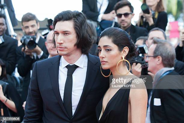 Adam Driver and Golshifteh Farahani attend the 'Loving' red carpet arrivals during the 69th annual Cannes Film Festival at the Palais des Festivals...