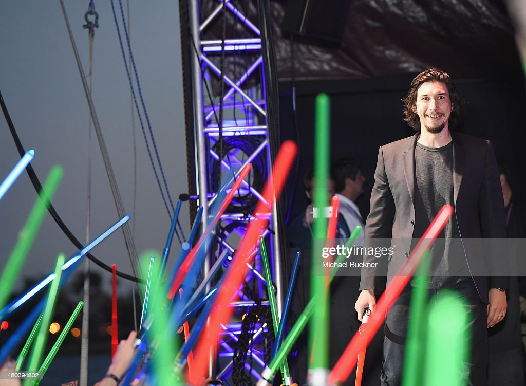 Adam Driver and more than 6000 fans enjoyed a surprise 'Star Wars' Fan Concert performed by the San Diego Symphony, featuring the classic 'Star Wars' music of composer John Williams, at the Embarcadero Marina Park South on July 10, 2015 in San Diego, California.