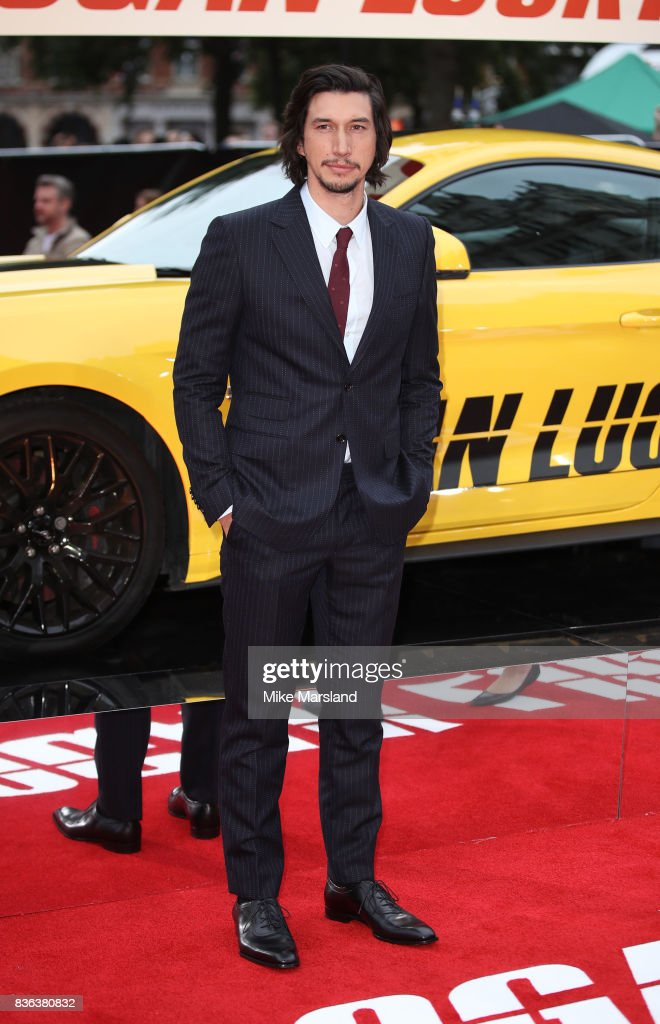 Adam Driver arriving at the 'Logan Lucky' UK premiere held at Vue West End on August 21, 2017 in London, England.