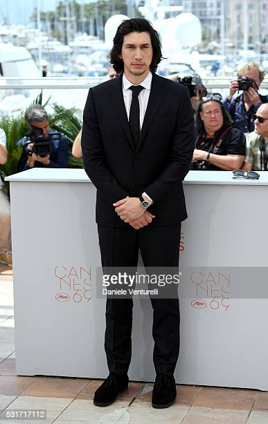 Adam Driver attends the 'Paterson' photocall during the 69th annual Cannes Film Festival at the Palais des Festivals on May 16 2016 in Cannes France