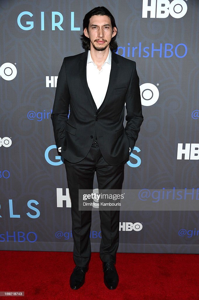 <a gi-track='captionPersonalityLinkClicked' href=/galleries/search?phrase=Adam+Driver&family=editorial&specificpeople=7131793 ng-click='$event.stopPropagation()'>Adam Driver</a> attends the Premiere Of 'Girls' Season 2 Hosted By HBO at NYU Skirball Center on January 9, 2013 in New York City.