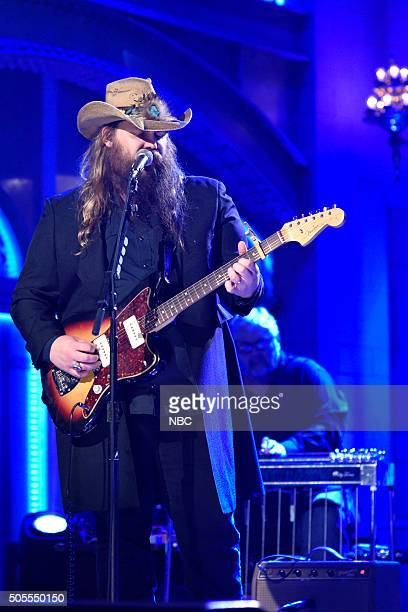 LIVE 'Adam Driver' Episode 1693 Pictured Musical guest Chris Stapleton performs on January 16 2016