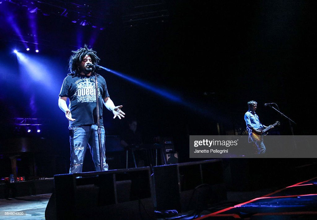 Adam Duritz and David Bryson of Counting Crows perform in concert at Nikon at Jones Beach Theater on July 31, 2016 in Wantagh, New York.