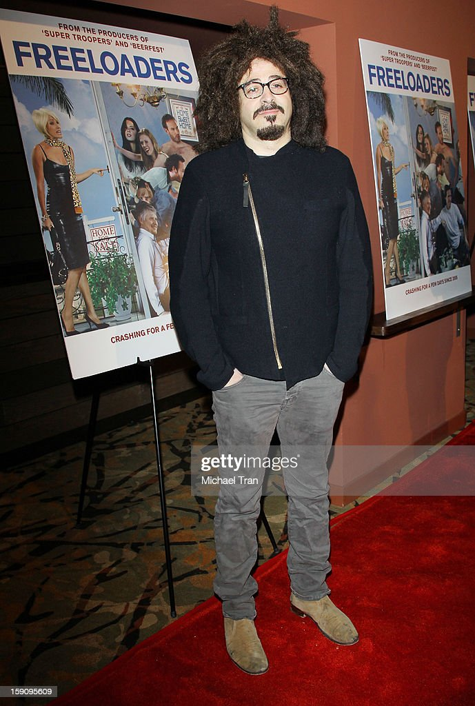 Adam Duritz arrives at the Los Angeles premiere of 'Freeloaders' held at Sundance Cinemas on January 7, 2013 in Los Angeles, California.