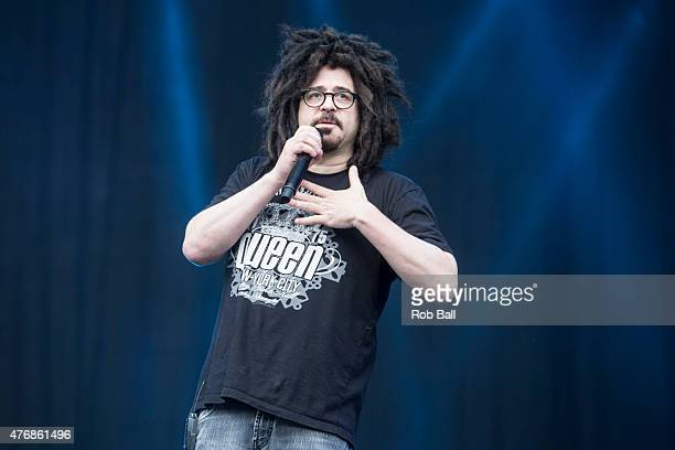 Adam Duritz from Counting Crows performs on Day 2 of the Isle of Wight Festival at Seaclose Park on June 12 2015 in Newport Isle of Wight