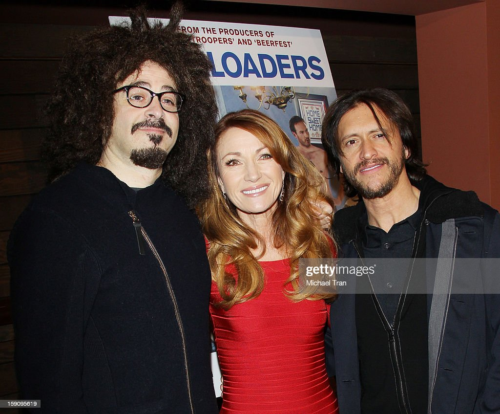 <a gi-track='captionPersonalityLinkClicked' href=/galleries/search?phrase=Adam+Duritz&family=editorial&specificpeople=207121 ng-click='$event.stopPropagation()'>Adam Duritz</a>, Jane Seymour and <a gi-track='captionPersonalityLinkClicked' href=/galleries/search?phrase=Clifton+Collins+Jr.&family=editorial&specificpeople=540063 ng-click='$event.stopPropagation()'>Clifton Collins Jr.</a> arrive at the Los Angeles premiere of 'Freeloaders' held at Sundance Cinemas on January 7, 2013 in Los Angeles, California.