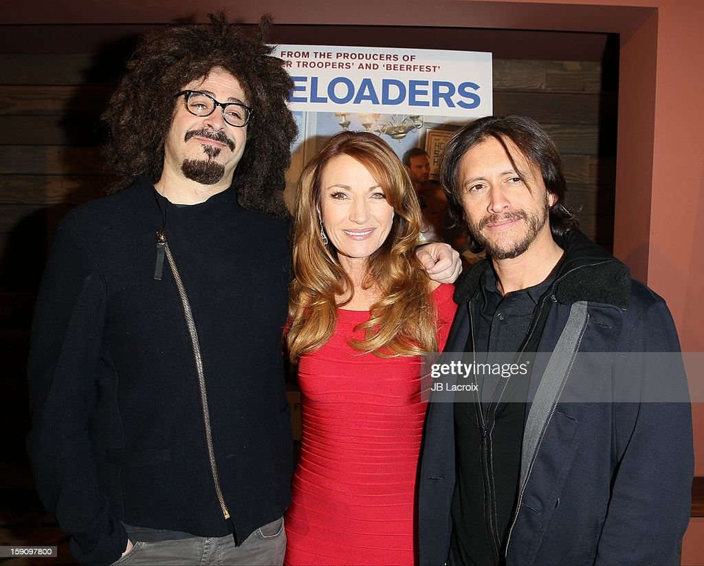 Adam Duritz Jane Seymour and Clifton Collins Jr attend the 'Freeloaders' Premiere held at Sundance Cinema on January 7 2013 in Los Angeles California
