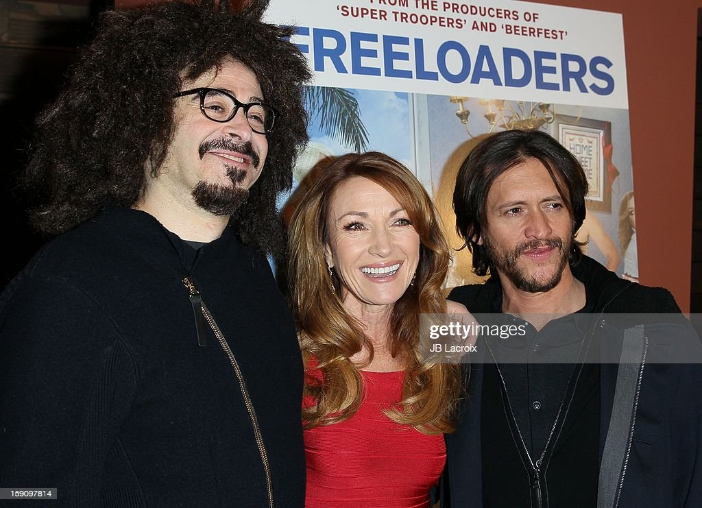 <a gi-track='captionPersonalityLinkClicked' href=/galleries/search?phrase=Adam+Duritz&family=editorial&specificpeople=207121 ng-click='$event.stopPropagation()'>Adam Duritz</a>, Jane Seymour and <a gi-track='captionPersonalityLinkClicked' href=/galleries/search?phrase=Clifton+Collins+Jr.&family=editorial&specificpeople=540063 ng-click='$event.stopPropagation()'>Clifton Collins Jr.</a> attend the 'Freeloaders' Premiere held at Sundance Cinema on January 7, 2013 in Los Angeles, California.