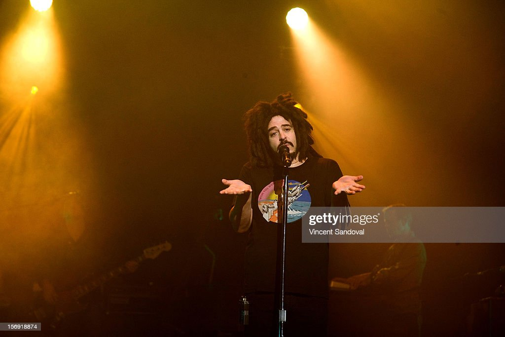 Adam Duritz of Counting Crows performs at The Wiltern on November 24, 2012 in Los Angeles, California.