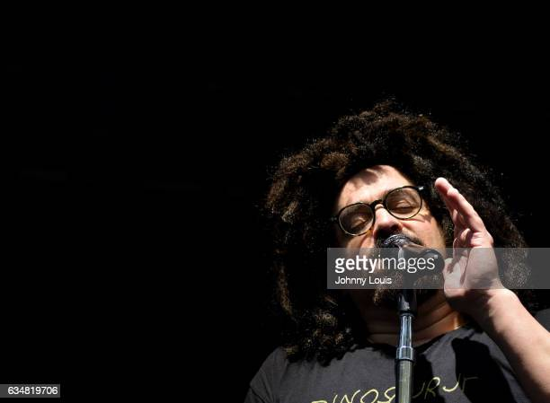 Adam Duritz of Counting Crows performs during the Dolphins Cancer Challenge VII Concert Celebration at Hard Rock Stadium on February 11 2017 in Miami...
