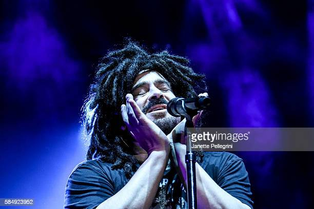 Adam Duritz of Counting Crows performs in concert at Nikon at Jones Beach Theater on July 31 2016 in Wantagh New York