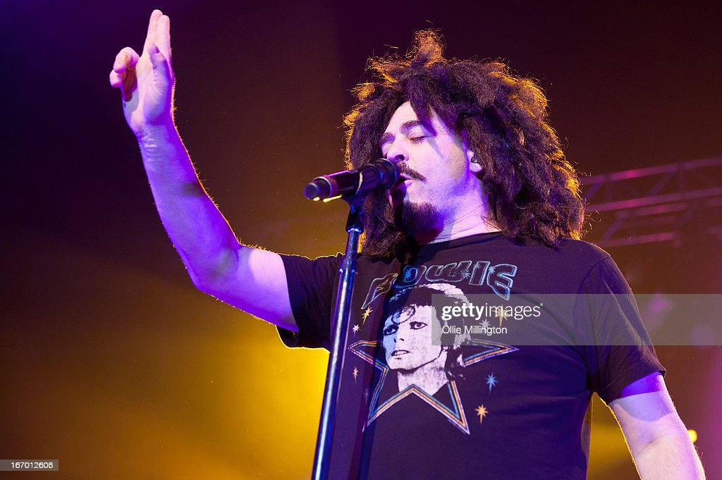 <a gi-track='captionPersonalityLinkClicked' href=/galleries/search?phrase=Adam+Duritz&family=editorial&specificpeople=207121 ng-click='$event.stopPropagation()'>Adam Duritz</a> of Counting Crows performs on the opening night of the bands UK Tour at 02 academy on April 19, 2013 in Birmingham, England.