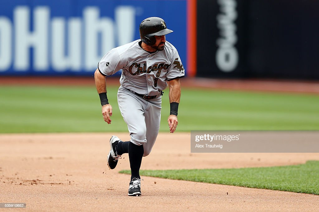 <a gi-track='captionPersonalityLinkClicked' href=/galleries/search?phrase=Adam+Eaton&family=editorial&specificpeople=210898 ng-click='$event.stopPropagation()'>Adam Eaton</a> #1 of the Chicago White Sox runs from second to third base during the game against the New York Mets at Citi Field on Monday, May 30, 2016 in the Queens borough of New York City.