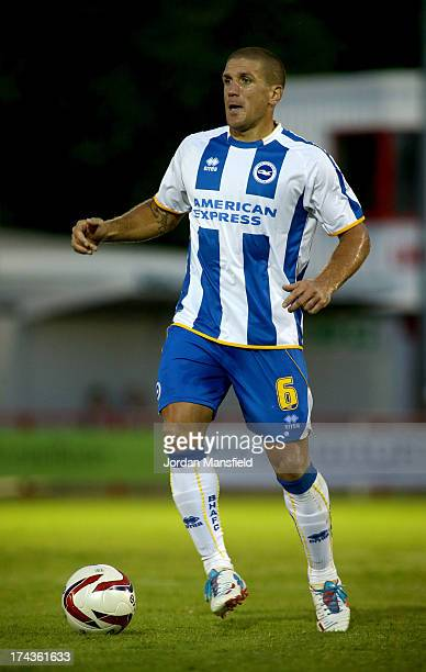 Adam ElAbd of Brighton Hove Albion in action during the preseason friendly against Crawley Town FC at Broadfield Stadium on July 24 2013 in Crawley...
