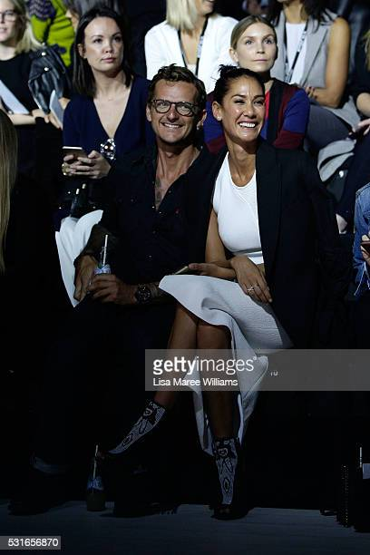 Adam Ellis and Lindy Klim arrive ahead of the Ginger Smart show at MercedesBenz Fashion Week Resort 17 Collections at Carriageworks on May 16 2016 in...
