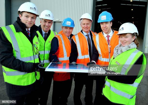 Adam Farley an engineering student David Bell of JCB Robert Goodwill the Secretary of State for Transport Lord Deighton from the Treasury Matthew...