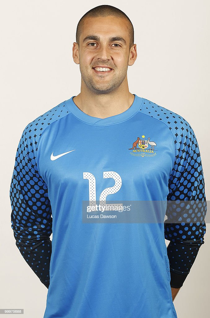<a gi-track='captionPersonalityLinkClicked' href=/galleries/search?phrase=Adam+Federici&family=editorial&specificpeople=886953 ng-click='$event.stopPropagation()'>Adam Federici</a> of Australia poses for a portrait during an of Australian Socceroos portrait session at Park Hyatt on May 19, 2010 in Melbourne, Australia.