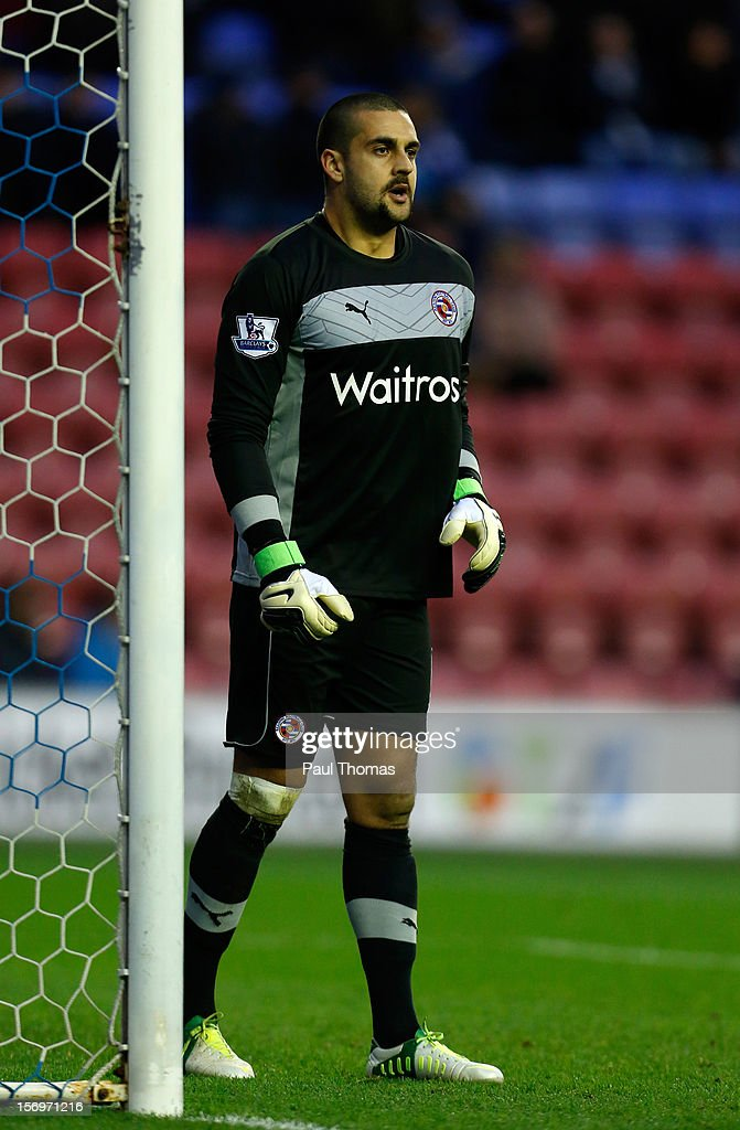 Adam Federici of Reading during the Barclays Premier League match between Wigan Athletic and Reading at the DW Stadium on November 24, 2012 in Wigan, England.