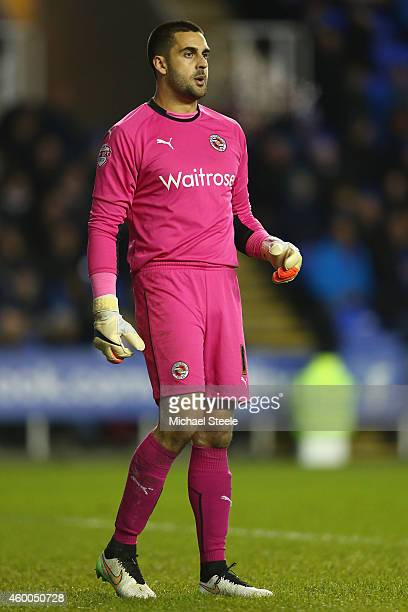 Adam Federici of Reading during the Sky Bet Championship match between Reading and Bolton Wanderers at the Madejski Stadium on December 6 2014 in...