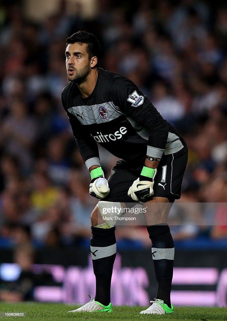 Adam Federici of Reading in action during the Barclays Premier League match between Chelsea and Reading at Stamford Bridge on August 22, 2012 in London, England.