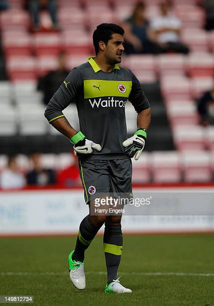 Adam Federici of Reading in action during the preseason friendly match between Bournemouth and Reading at the Goldsands Stadium on August 4 2012 in...