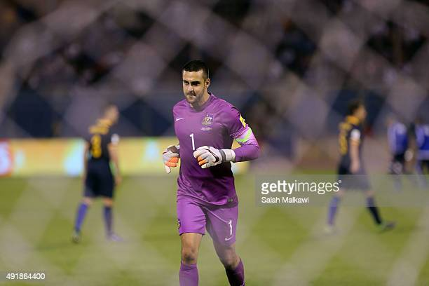 Adam federici the goalkeeper of Australia stands at his goal during the 2018 FIFA World Cup qualification match between Jordan and Australia...