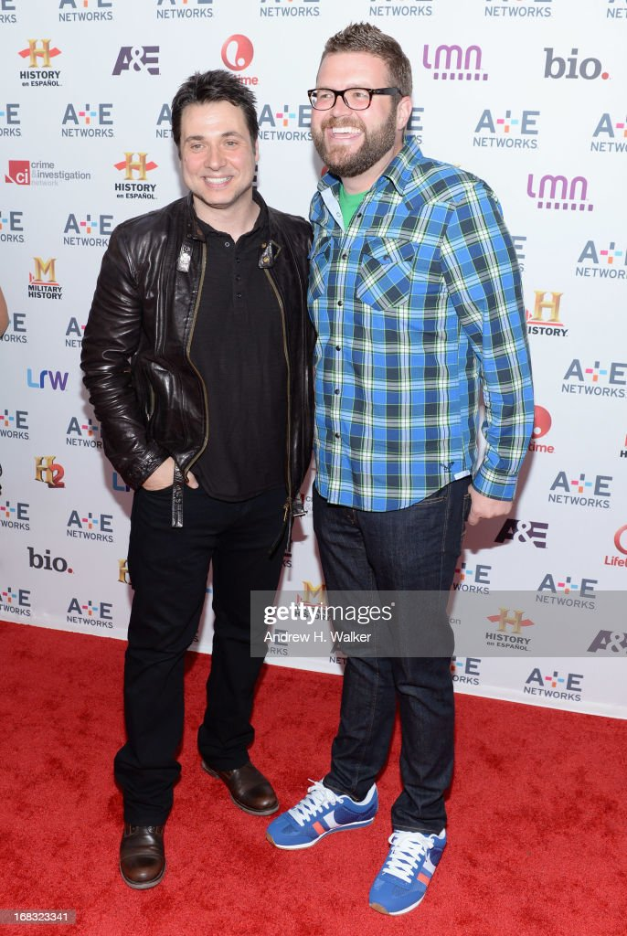 Adam Ferrara (L) and Rutledge Wood attend the A+E Networks 2013 Upfront on May 8, 2013 in New York City.