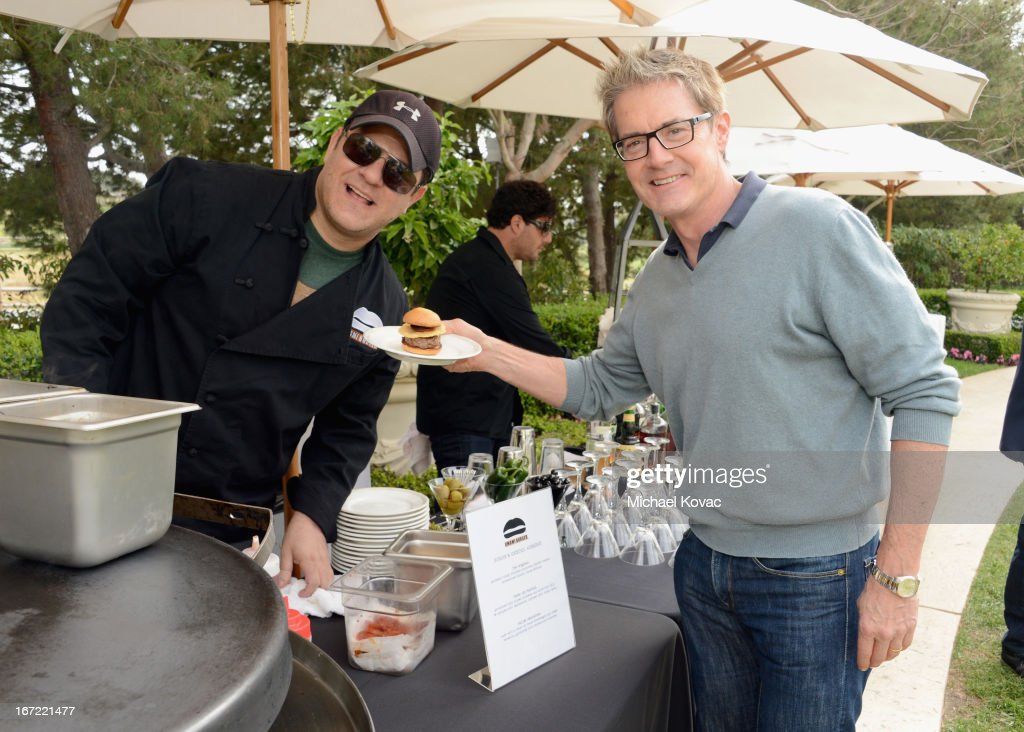 Adam Fleischman, Umami Restaurant Group (L) and actor <a gi-track='captionPersonalityLinkClicked' href=/galleries/search?phrase=Kyle+MacLachlan&family=editorial&specificpeople=213038 ng-click='$event.stopPropagation()'>Kyle MacLachlan</a> attend The American Express Publishing Luxury Summit 2013 at St. Regis Monarch Beach Resort on April 22, 2013 in Dana Point, California.